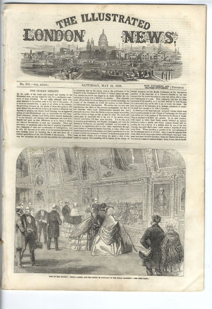 1858 ILLUSTRATED LONDON NEWS Newspaper MINNESOTA Iowa ...